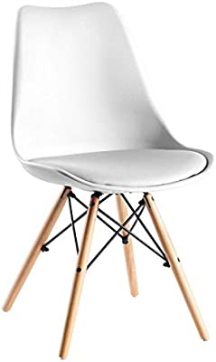 VentaMuebles - Silla tower wood blanca: Amazon.es: Hogar