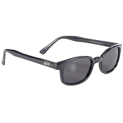 PC Sun X-Kds Biker Brille Matte Black Frame Smoke Linse