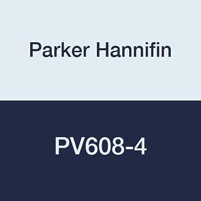 "Parker Hannifin PV608-4 PV Series Brass Plug Valve, 1/4"" Female Thread x 1/4"" Male Thread by Parker Hannifin Corporation"