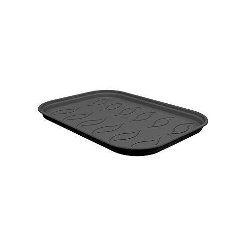 Preisvergleich Produktbild Elho Green Basics Anzucht Untersetzer M - Lebhaft Schwarz - Drinnen & Draußen - Ø 25.6 x H 2.2 cm