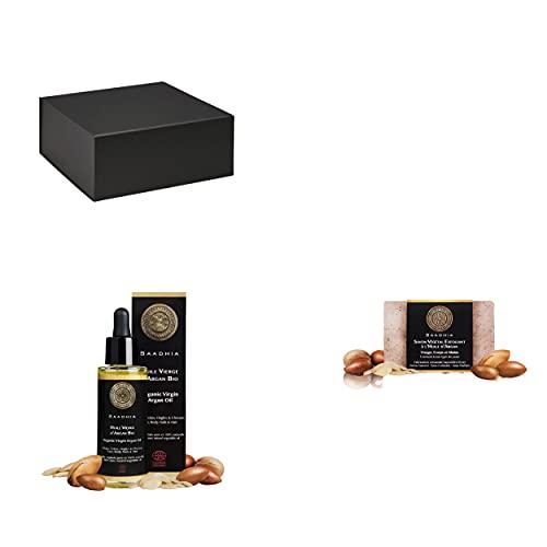 COFFRET CADEAU FEMME DECOUVERTE DE L'ORIENT  1 huile d'Argan Bio 30 ml soin naturel pour hydrater la peau,renforcer les cheveux & les ongles 1 savon naturel à base d'huile végétale d'Argan.Un cadeau