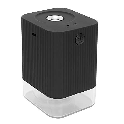 01 Umidificatore, sensore a infrarossi Sensore Intelligente Integrato Spruzzatore a induzione con Ricarica USB con Batteria Integrata ad Alta capacità da 1200 mAh per ristoranti per scuole(Nero)