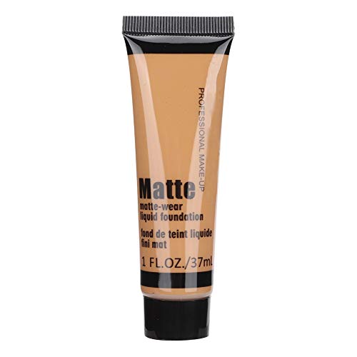 37ml Bronze Beauty Black Liquid Foundation, Fond de teint liquide correcteur hydratant Fond de teint contrôle de l'huile de maquillage pour la peau foncée
