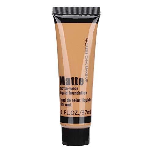 37ml Bronze Beauty Black Flüssige Foundation, Feuchtigkeitsspendende Concealer Flüssige Foundation Make-up Oil Control Face Foundation für dunkle Haut