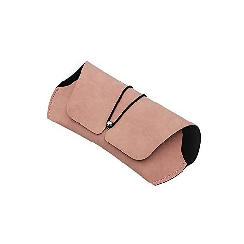 LHJCN Organizador de Caja de Almacenamiento de Gafas Nuevo Estuche de Gafas de Cuero PU Funda para Gafas de Sol Caja de Soporte para Gafas Caja de Almacenamiento sólida PU Ligera