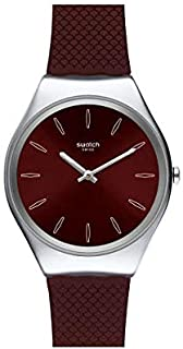 Swatch orologio SKINBURGUNDY Skin Irony 38mm SYXS120