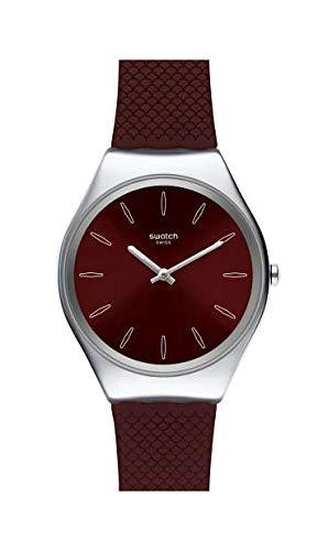 Swatch Reloj Analógico para Mujer de Cuarzo Suizo con Correa en Silicona SYXS120
