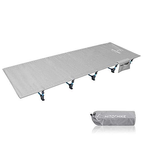 N/Z Wohnausstattung Klappbett Klappbett Wanderer Ultraleichtes Reisebett aus Aluminiumlegierung im Freien Schlafcenter für Camping Wandern Angeln Besucherbett (Farbe: Silber Größe: 190 * 70 * 17 cm)