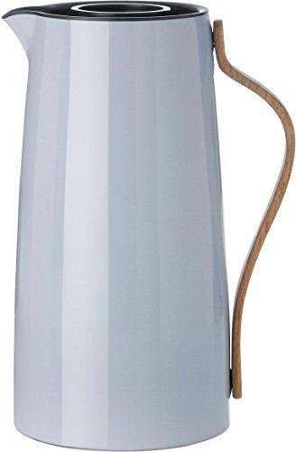 Stelton Isolierkanne Emma für Kaffee aus Kunststoff mit Buchengriff in hellblau, 1.2l