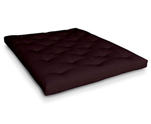 Futon Naoko Baumwollfuton Futonmatratze mit 6X Baumwolle von Futononline, Größe:140 x 200 cm, Color Futon SE Amazon:Bordeaux Dark/schwarz