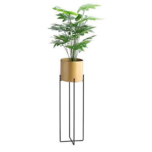 Support pour Plantes Support pour présentoirs Supports à Fleurs Support à Fleurs Support en Fer Balcon Balcon Chambre Taille du Jardin 22,5x70 cm / 25,5x85 cm (L x H) (Noir/Blanc/Or)