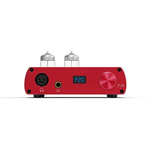 LOXJIE P20 Voll Balance Röhrenverstärker Kopfhörerverstärker Elektronische Röhre Tube Kopfhörer Verstärker Headphone Amplifier AMP(Rot)