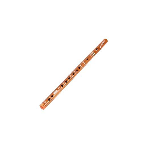 Flauta de Seis Orificios, Adecuada for Estudiantes y niños Principiante Adulto Base Cero, Instrumento de Flauta de bambú de Agudos de 6 Orificios (Color : Brown)