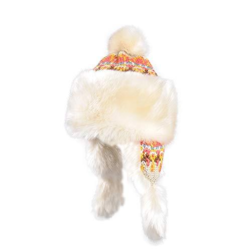 ChengLaoBan Shop Hut, Plüschhut Herbst und Winter Hut weiblichen koreanischen Version Gezeiten Strickmütze Earmuffs Wollmütze mongolischen Hut Winter Hut, freie Größe Dame Wintermütze (Color : A)