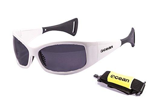 Ocean Sunglasses - Mentaway - lunettes de soleil polarisées - Monture : Blanc Laqué - Verres : Fumée (1111.3)