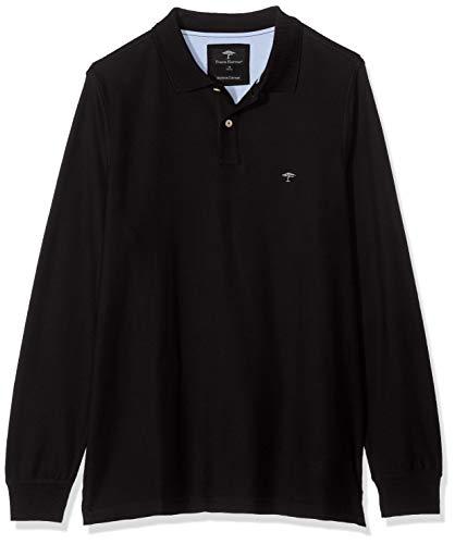FYNCH-HATTON Herren, Longsleeve Poloshirt, Schwarz (Black 999), Medium (Herstellergröße: M)