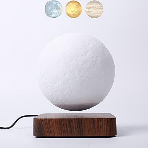 ZJING Júpiter Suspendido 3D, Lámpara De Luna De Equilibrio, Tiene 3 Modos De Colores(Júpiter/Mares/Luna) para Regalos Sorpresa/Decoración De Habitación/Luz De Noche/Juguetes De Escritorio De Oficina