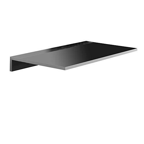 Mesa de Cocina Abatible- Modelo Montes - Color Negro/Plata - Material MDF/Metal - Medidas 80 x 10/50 x 40 cm ✅