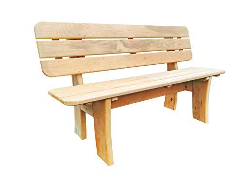 Mega Holz 3-Sitzer Gartenbank aus massiver Esche 130 cm | Holzbank Parkbank Balkonbank