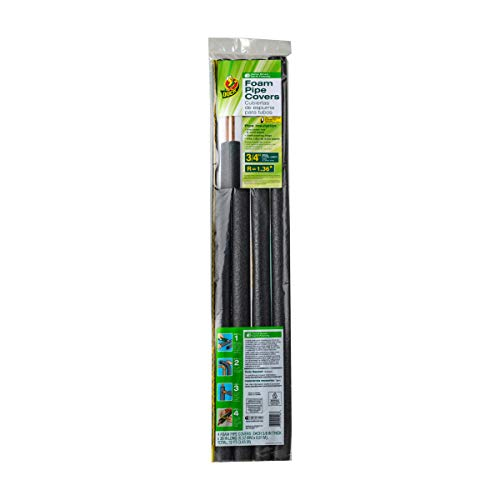"""Duck Brand Insulating Foam Pipe Covers 1/"""" Inch x 12/"""" total leng Pack of 4 Sticks"""