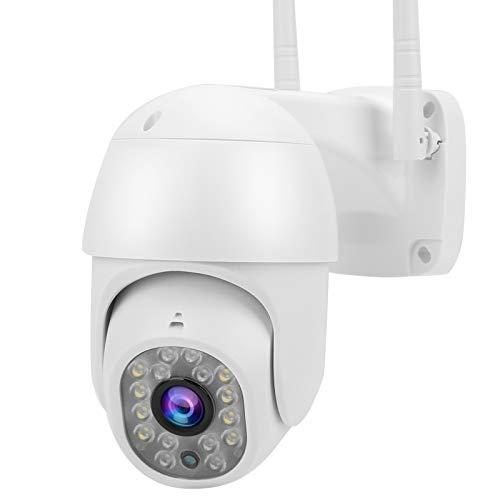 Cámara WiFi PTZ 1080P Cámara HD Visión Nocturna CCTV Cámara Domo de detección de Movimiento de Video Interior al Aire Libre(EU)