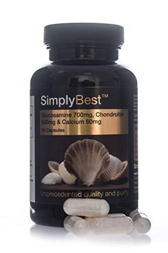 Glucosamina, Condroitina y Calcio extra Fuerte - 60 Cápsulas - SimplySupplements