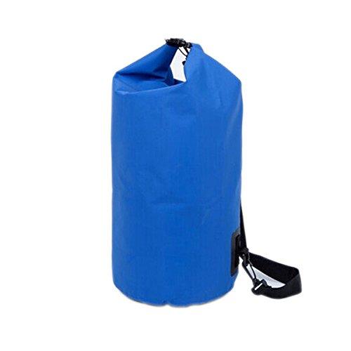 VORCOOL Sac étanche 20L Avec Bandoulière Pour Extérieur (Bleu)