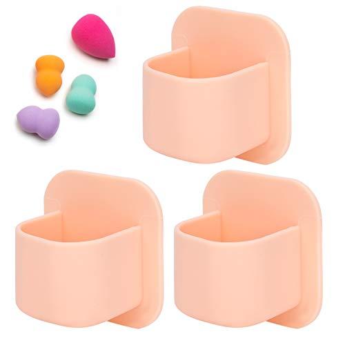 Soporte de esponja de maquillaje, soporte de soplo de polvo cosmético, para barras de labios para soplos (rosa desnudo)