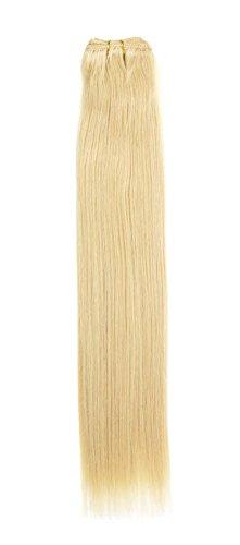 Euro soyeux tissage | Extensions de cheveux humains | Blond 45,7 cm | Sunshine (24) American Pride