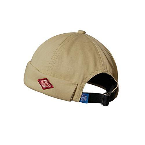 Clape Gorra de reloj Commando Work Beanie Corduroy Docker Leon Brimless Hat enrollado Cuff Harbour Hat, CT37-Beige, Talla única