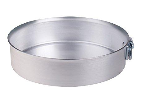 Pentole Agnelli Kuchenform zylindrisch mit Ring, aus Aluminium, Silber 40 cm Silber/schwarz