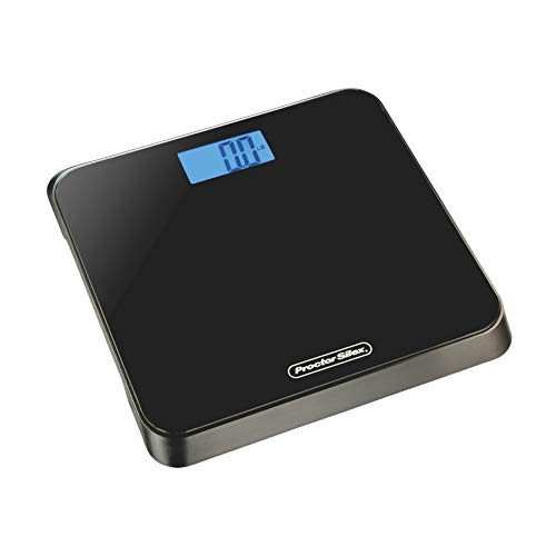 Proctor Silex 86550 Digital Body Weight Bathroom Scale Stepon Technology Large LCD Display Black