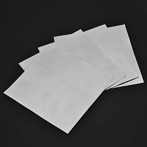 Without brand SSB-JIAODAI, 5Pcs High Purity Zink-Platte 99,9% reinen Zink-Blatt-Platte for Science Lab DIY Physikalisches Experiment Use140x140x0.2mm