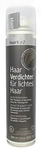 Hairfor2 Haarverdichtungsspray gegen lichtes Haar (300ml, Dunkelbraun)