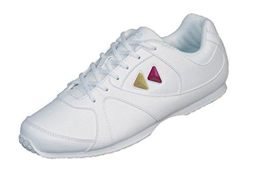 Kaepa Cheerful Damen Sneaker mit Color Change Snap In Logo, damen, weiß, EU 34.5 UK 1.5 US 4