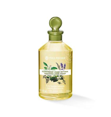 Yves Rocher LES PLAISIRS NATURE Pflanzliches Körper-/Massage-Öl Orangenblüte, Lavendel & Petitgrain, Körper-Öl, 1 x Flacon 150 ml
