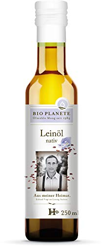 Bio Planete Bio Leinöl nativ aus deutscher Herkunft 3D-Filtr. (6 x 250 ml)