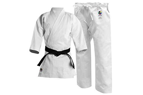 adidas Karate Gi Anzug für Erwachsene, WKF-genehmigt, 340 g, Uniform (160 cm)