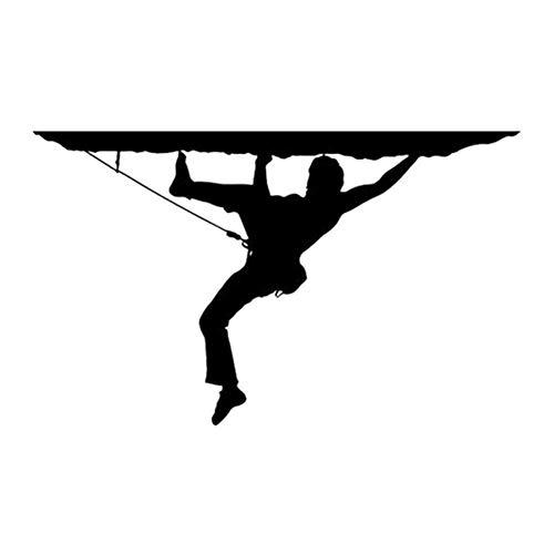 ACEACE 18cm * 11cm Rock Climber Wandern Berg Mode-Aufkleber-Abziehbilder Car Styling Schwarz/Silber (Color Name : Black)
