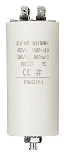 Anlaufkondensator Betriebskondensator 30uF 30µF mit STECKER (Motorkondensator)