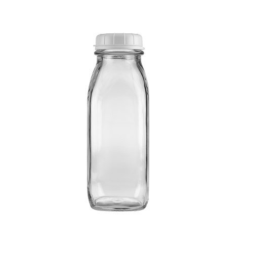 17 Oz Glass Water Bottle Virtually Unbreakable with Thick Sides
