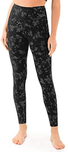 VOEONS Yoga Pants for Women Printed Camo Workout Exercise Leggings with Pockets High Waisted Tummy Control Athletic Running Spandex Compression Leggings Tiedye