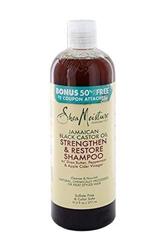 Shea Moisture Jamaican Black Castor Oil Strengthen Grow and Restore Shampoo 19.5 fl oz / 577ml - Bigger Size