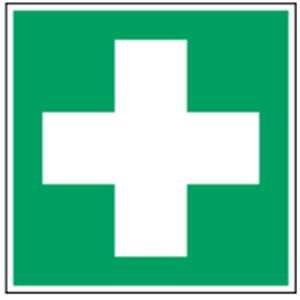 Schild Erste Hilfe Kunststoff 148 x 148 mm ASR A1.3/DIN7010 (Hinweisschild, Rettungszeichen, Notfall) praxisbewährt, wetterfest