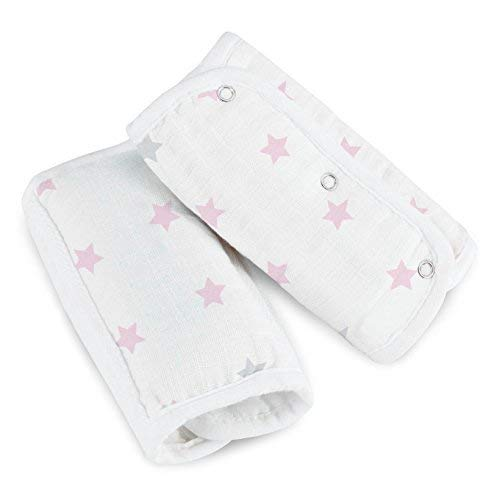 aden by aden + anais Strap Cover; 100% Cotton Muslin Strap Covers with 100% Polyester Fill; 2-Pack; Darling - Stars