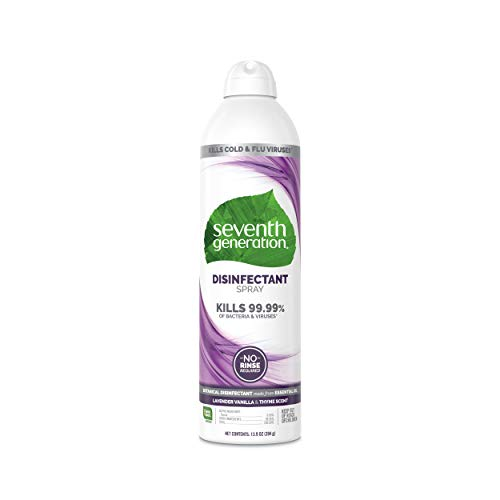 Seventh Generation Disinfectant Spray, Lavender Vanilla & Thyme, 13.9 Ounce (Pack Of 4)