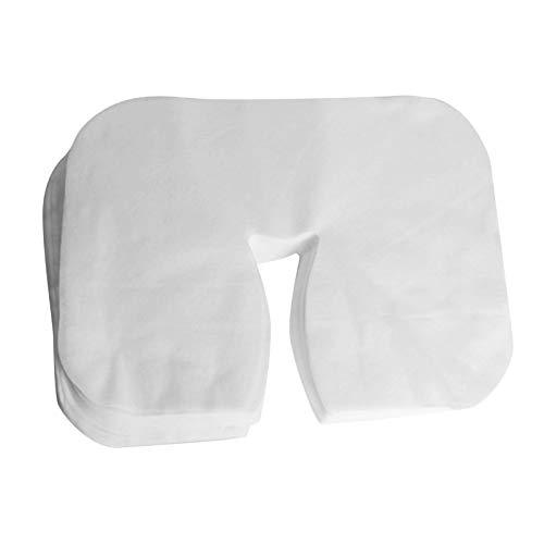 Milageto Nasenschlitztücher Gesichtsauflagen Hygiene-Bezug für Massageliegen, Massage, Kopfpolster, Nackenkissen
