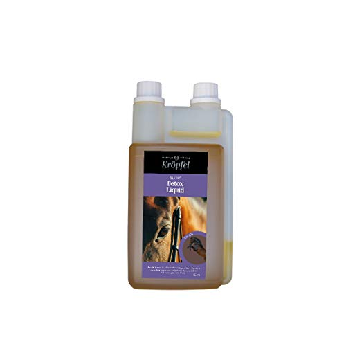 Kröpfel Detox Liquid Öl für Pferde Entgiftung - 1000ml Mariendistelöl,Sylimarin, Tocopherol Ergänzungsfuttermittel Pferd unterstützt die Leber & Nierenfunktion - mit Tierärzten entwickelt