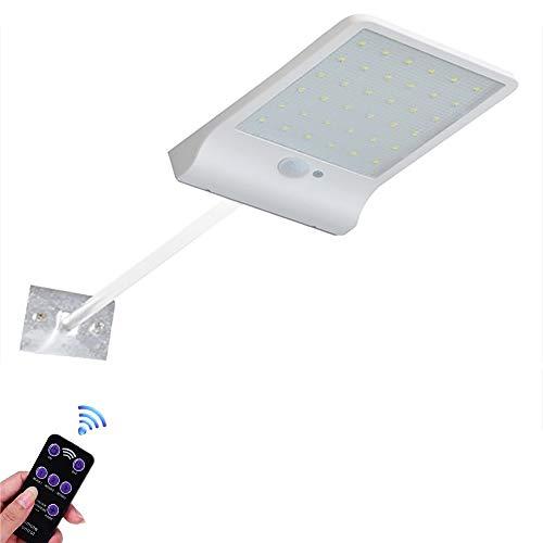 ZUEN LED Farbe Solar Licht einstellbar mit Controller DREI Modi wasserdichte Lampe Lichter für Outdoor-Garten Wall Street,White,withoutlever