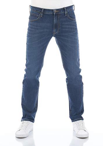 Lee Herren Jeans Jeanshose Daren Zip Fly Regular Fit Stretch Denim Baumwolle Hose Blau w30-w38, Größe:36W / 30L, Farbvariante:Bright Blue (L707SGJZ)